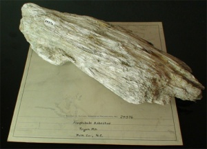 Asbestos specimen from Polk County, NC